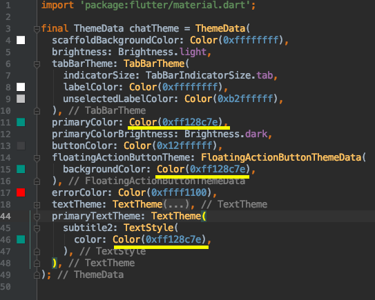 change primary color of your app